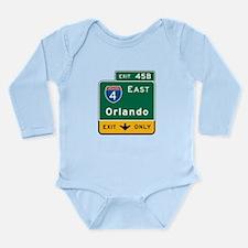 Funny Motorway Long Sleeve Infant Bodysuit