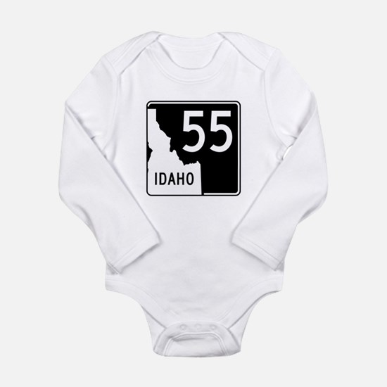 Route 55, Idaho Long Sleeve Infant Bodysuit
