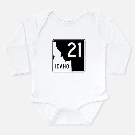 Route 21, Idaho Long Sleeve Infant Bodysuit
