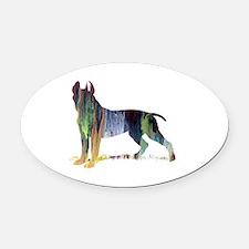 Cute Animals pit bulls Oval Car Magnet