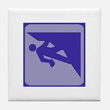 Climbing Guy Icon Tile Coaster