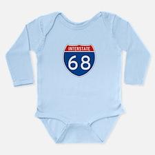 Interstate 68, USA Long Sleeve Infant Bodysuit