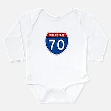 Interstate 70, USA Long Sleeve Infant Bodysuit