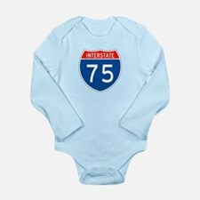 Interstate 75, USA Long Sleeve Infant Bodysuit