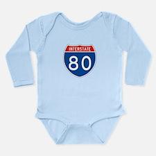Interstate 80, USA Long Sleeve Infant Bodysuit