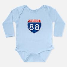 Interstate 88, USA Long Sleeve Infant Bodysuit
