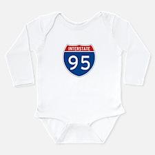 Interstate 95, USA Long Sleeve Infant Bodysuit