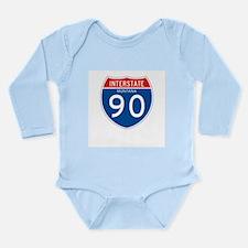 Interstate 90 - MT Long Sleeve Infant Bodysuit