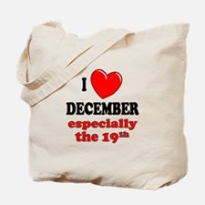 December 19th Tote Bag