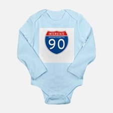 Interstate 90 - MA Long Sleeve Infant Bodysuit
