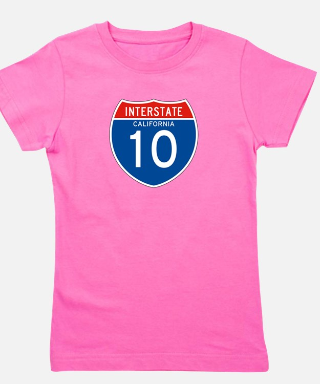 Interstate 10 - CA Girl's Tee
