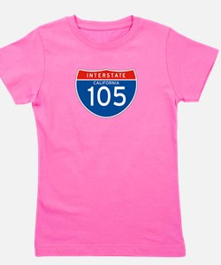 Interstate 105 - CA Girl's Tee
