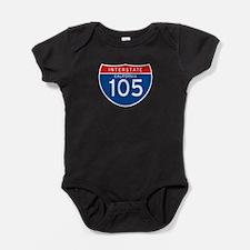 Interstate 105 - CA Baby Bodysuit