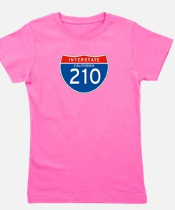 Interstate 210 - CA Girl's Tee