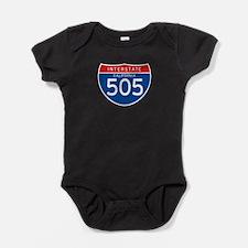 Interstate 505 - CA Baby Bodysuit