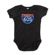 Interstate 605 - CA Baby Bodysuit