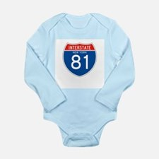 Interstate 81 - NY Long Sleeve Infant Bodysuit