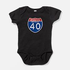 Interstate 90 - WY Baby Bodysuit