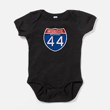 Interstate 44 - OK Baby Bodysuit