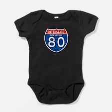 Interstate 80 - NJ Baby Bodysuit