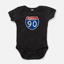 Interstate 90 - WA Baby Bodysuit