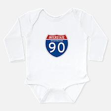 Interstate 90 - WA Long Sleeve Infant Bodysuit