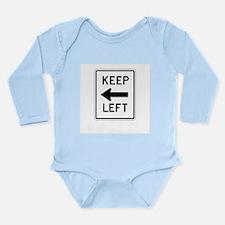 Keep Left - USA Long Sleeve Infant Bodysuit