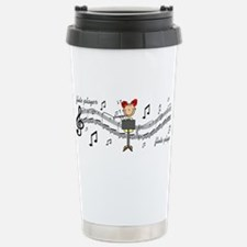 Unique Flute player Travel Mug