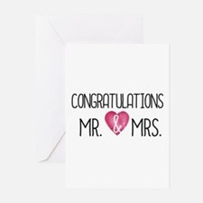 Cute Congratulations wedding Greeting Cards (Pk of 20)