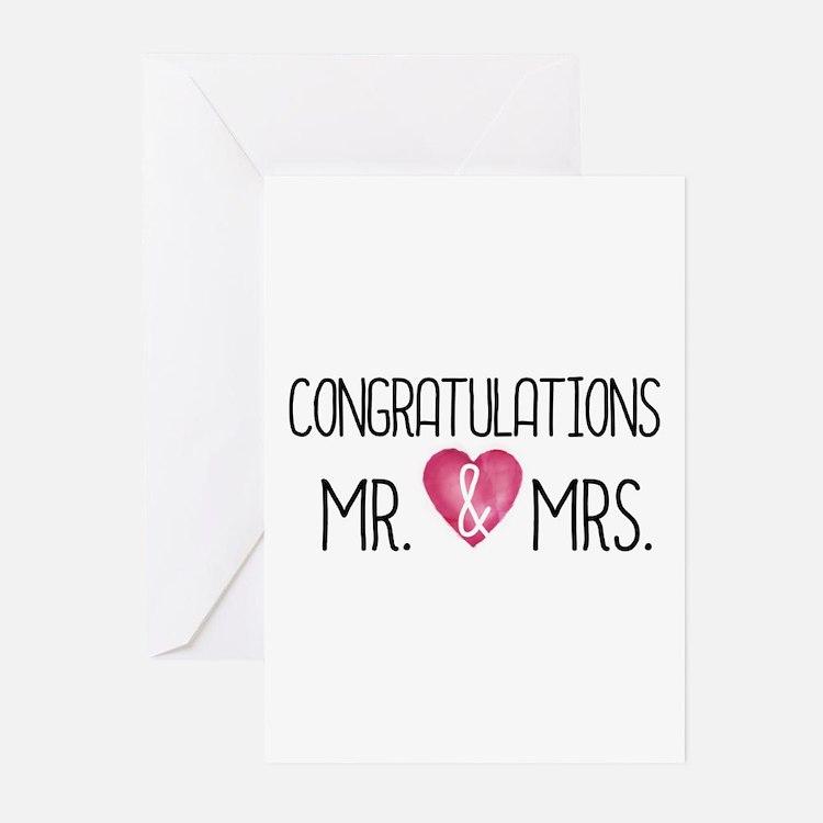 Cute Congratulations wedding Greeting Cards (Pk of 20)