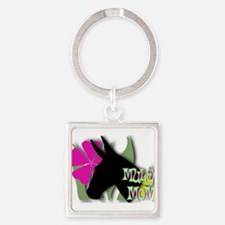 Funny Mules Square Keychain