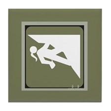 Climbing Girl Icon Tile Coaster