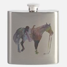 Funny Horse girl Flask
