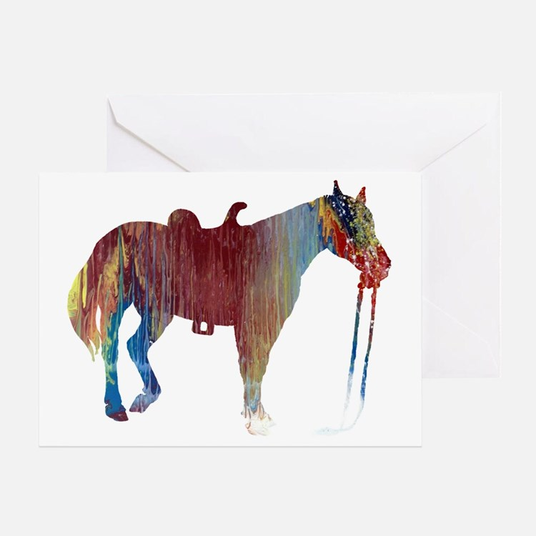 Cute Horse themed Greeting Card