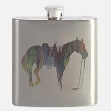Unique Horse girl Flask