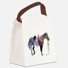 Funny Horse themed Canvas Lunch Bag