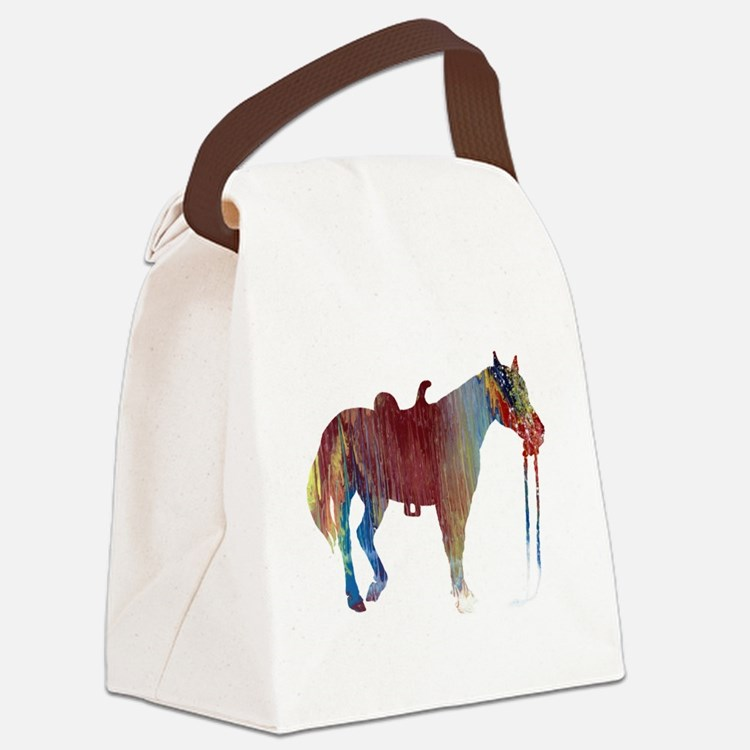 Cute Horse themed Canvas Lunch Bag
