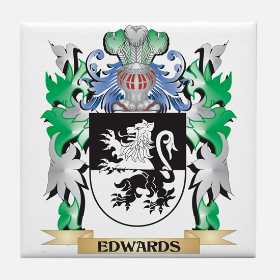 Edwards Coat of Arms (Family Crest) Tile Coaster