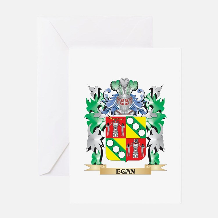 Egan Coat of Arms (Family Crest) Greeting Cards