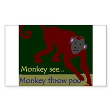 Monkey See Rectangle Decal