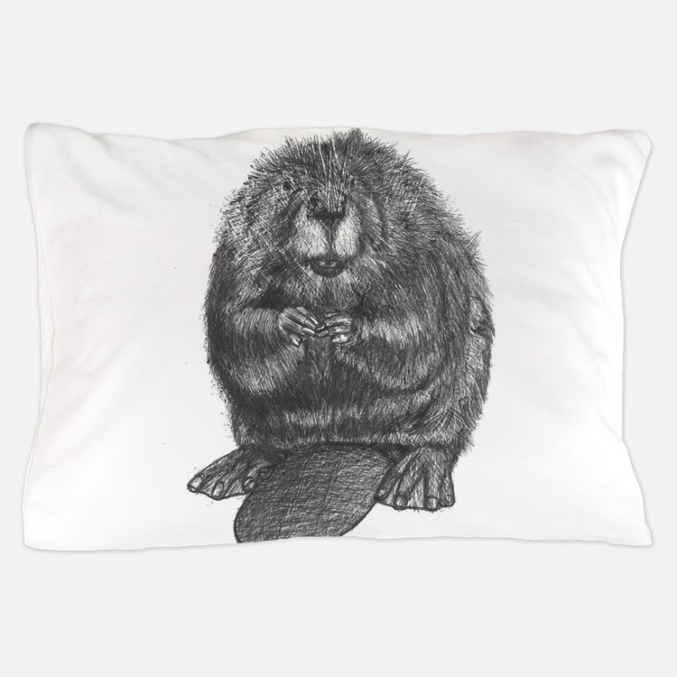 Cute Beaver Pillow Case