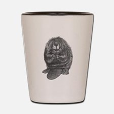 Cute Beaver Shot Glass
