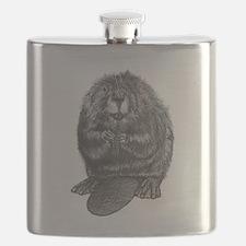Cute Beaver Flask