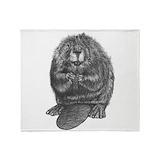Beaver Fleece Blankets