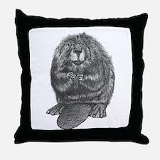 Unique Beaver Throw Pillow