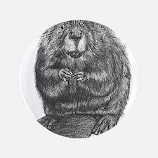 "Cute Beaver 3.5"" Button (100 pack)"