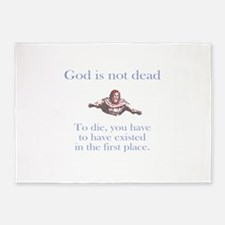 God is not dead 5'x7'Area Rug