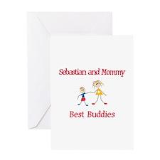 Sebastian & Mommy - Buddies Greeting Card