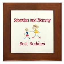 Sebastian & Mommy - Buddies Framed Tile