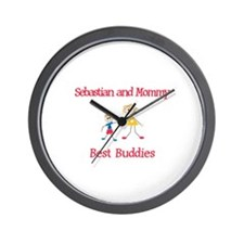Sebastian & Mommy - Buddies Wall Clock